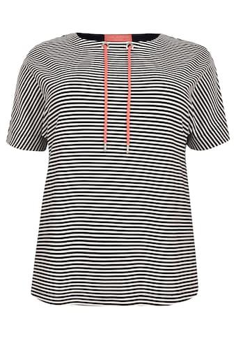 VIA APPIA DUE Verspieltes Sweatshirt mit Ringelmuster Plus Size kaufen
