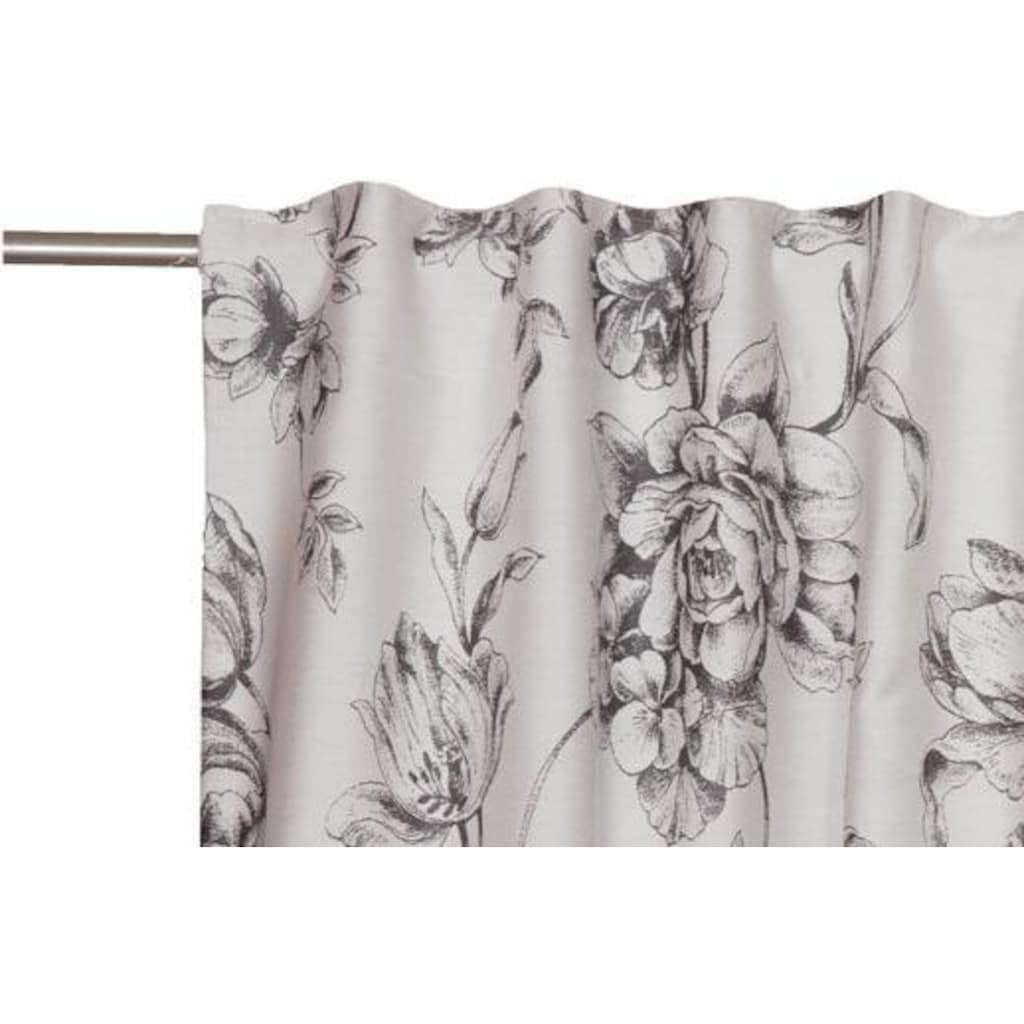 SCHÖNER WOHNEN-Kollektion Vorhang nach Maß »Vintage«, Blütendesigns in Jaquardstruktur