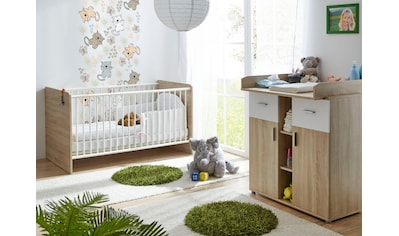 Ticaa Babymöbel-Set »Nico«, (Set, 2 tlg.), Bett + Wickelkommode kaufen