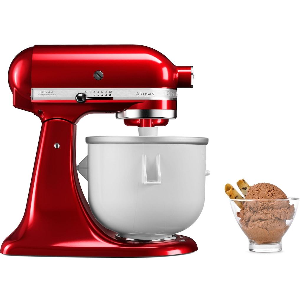 KitchenAid Eisbereiteraufsatz 5KICA0WH, Zubehör für Kitchen Aid Küchenmaschinen mit 4,8 + 6,9 l Schüssel. Nicht für Modell 5KSM3311X geeignet.