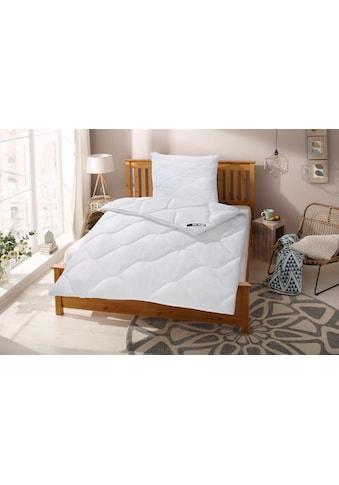 Kunstfaserbettdecke + Kopfkissen, »Schlafkomfort«, my home, warm, (Spar - Set) kaufen