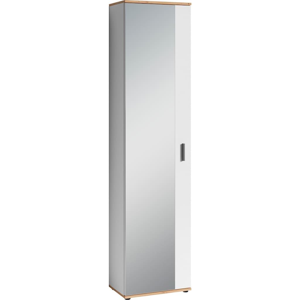 byLIVING Garderobenschrank »Jakob«, mit großem Spiegel, Breite 49 cm
