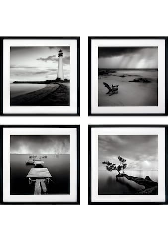 G&C Kunstdruck »Levy: Beach Bilderset«, (Set), 4 Motive à 50/50 cm, gerahmt kaufen