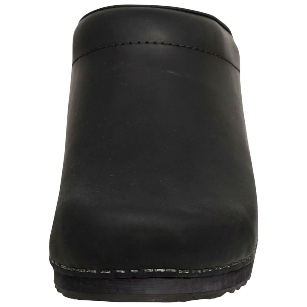 Sanita Clog »1200009M-2«, Sanita Herren Clog offen schwarz