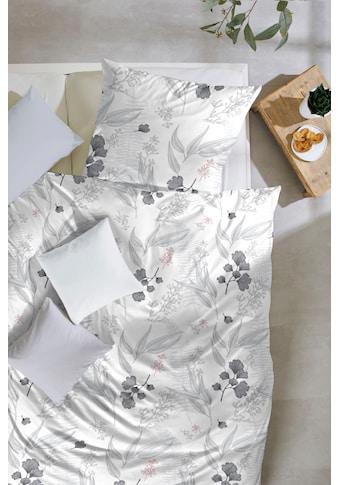 Primera Bettwäsche »Blumengarten«, mit lieblichem Blätterprint kaufen