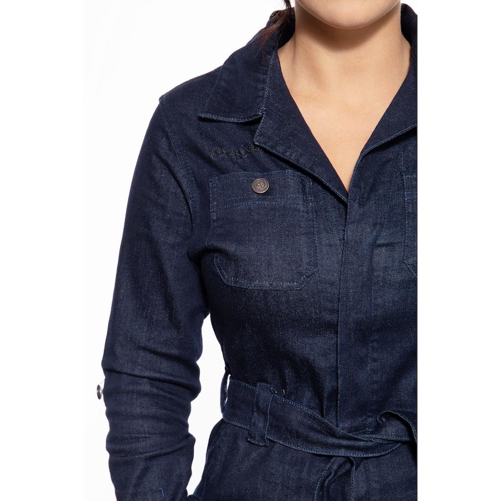 QueenKerosin Overall, mit Brusttaschen und coolen Stickereien
