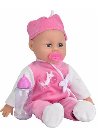 SIMBA Babypuppe »My Love, Laura Babysprache«, (3 tlg.), mit Schlafaugen kaufen