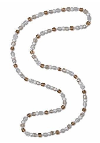 J.Jayz Lange Kette »farbige Perlenkette, zeitloses Design«, mit Glassteinen und... kaufen
