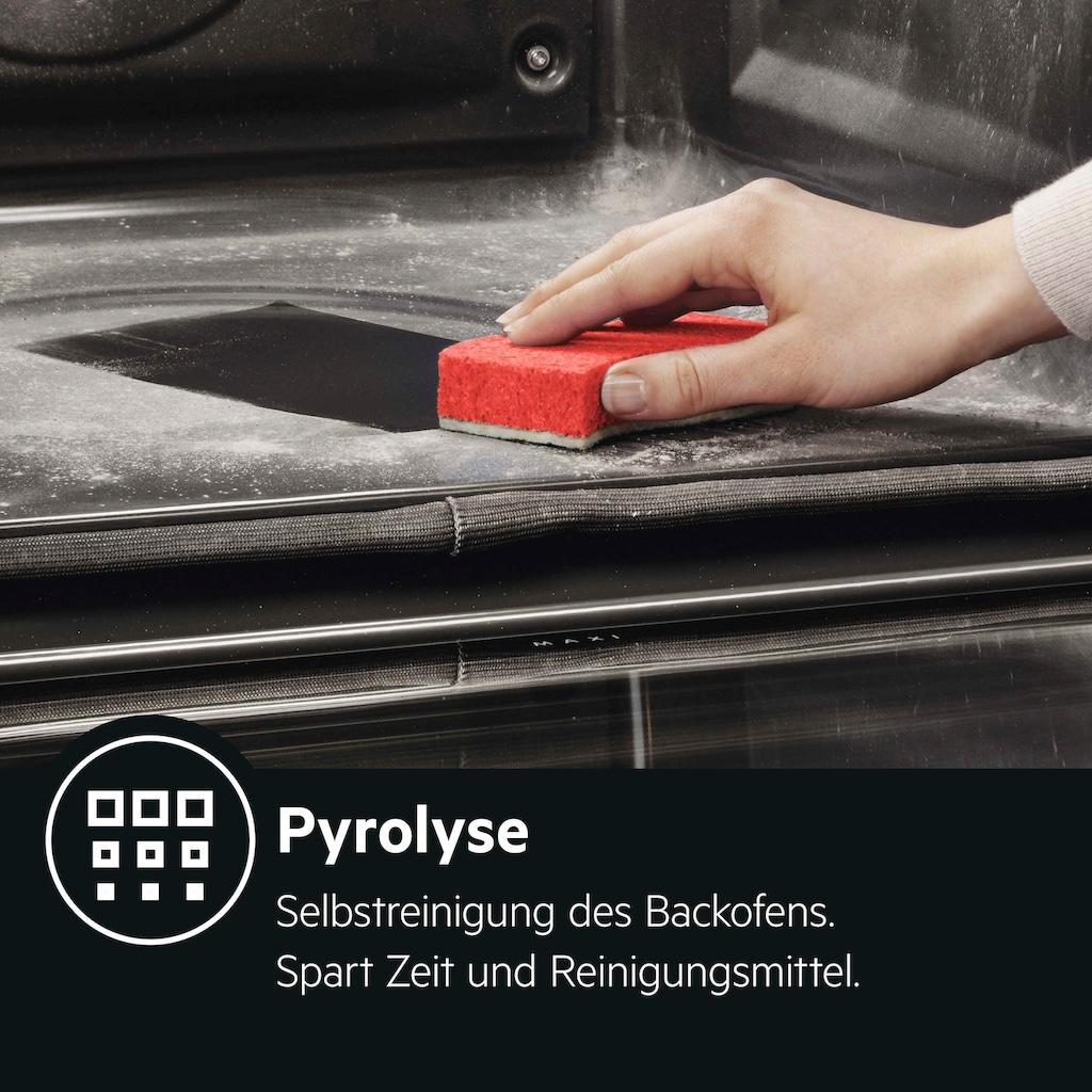 AEG Einbaubackofen »BPS33102ZM«,  Pyrolyse-Selbstreinigung, Backauszug, 2 Paar
