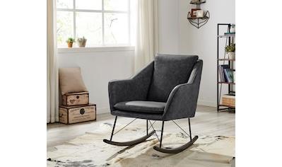 Home affaire Schaukelstuhl »Amelia«, aus schönem Kunstleder Bezug, in zwei unterschiedlichen Farbvarianten, Sitzhöhe 47 cm kaufen