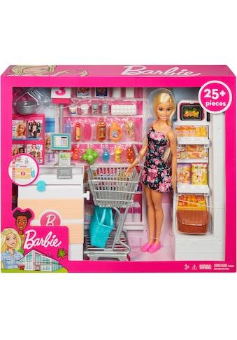 Barbie Anziehpuppe »Supermarkt und Puppe«, (Set, 20 tlg., inkl. Supermarkt) kaufen