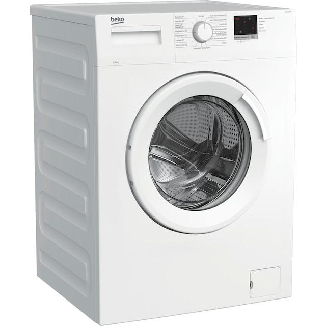 BEKO Waschmaschine »WML61223N1«, WML61223N1, 6 kg, 1200 U/min, LED-Display
