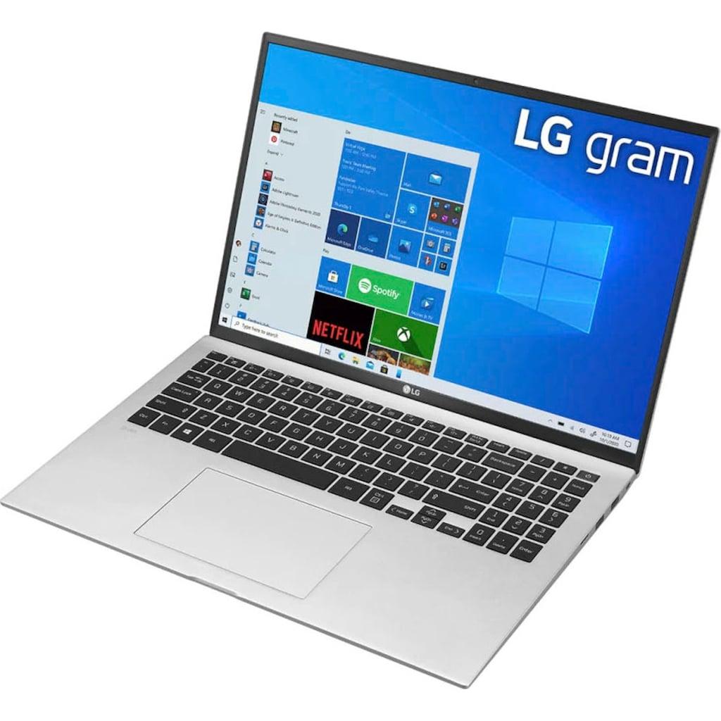 """LG Notebook »17Z90P-G.AA76G«, (43,18 cm/17 """" Intel Core i7 Iris Xe Plus Graphics\r\n 512 GB SSD), Kostenloses Upgrade auf Windows 11, sobald verfügbar"""