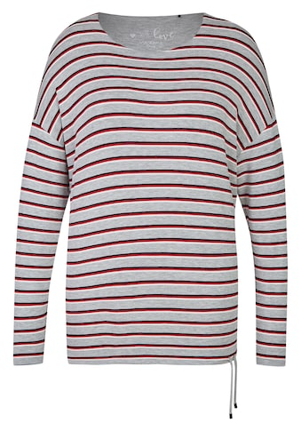 VIA APPIA DUE Süßes Sweatshirt mit Ringel-Muster Plus Size kaufen