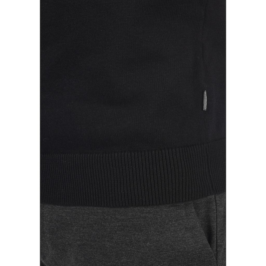 Solid Rollkragenpullover »Agrio«, Rollkragenpulli mit abgesetztem Strickmuster