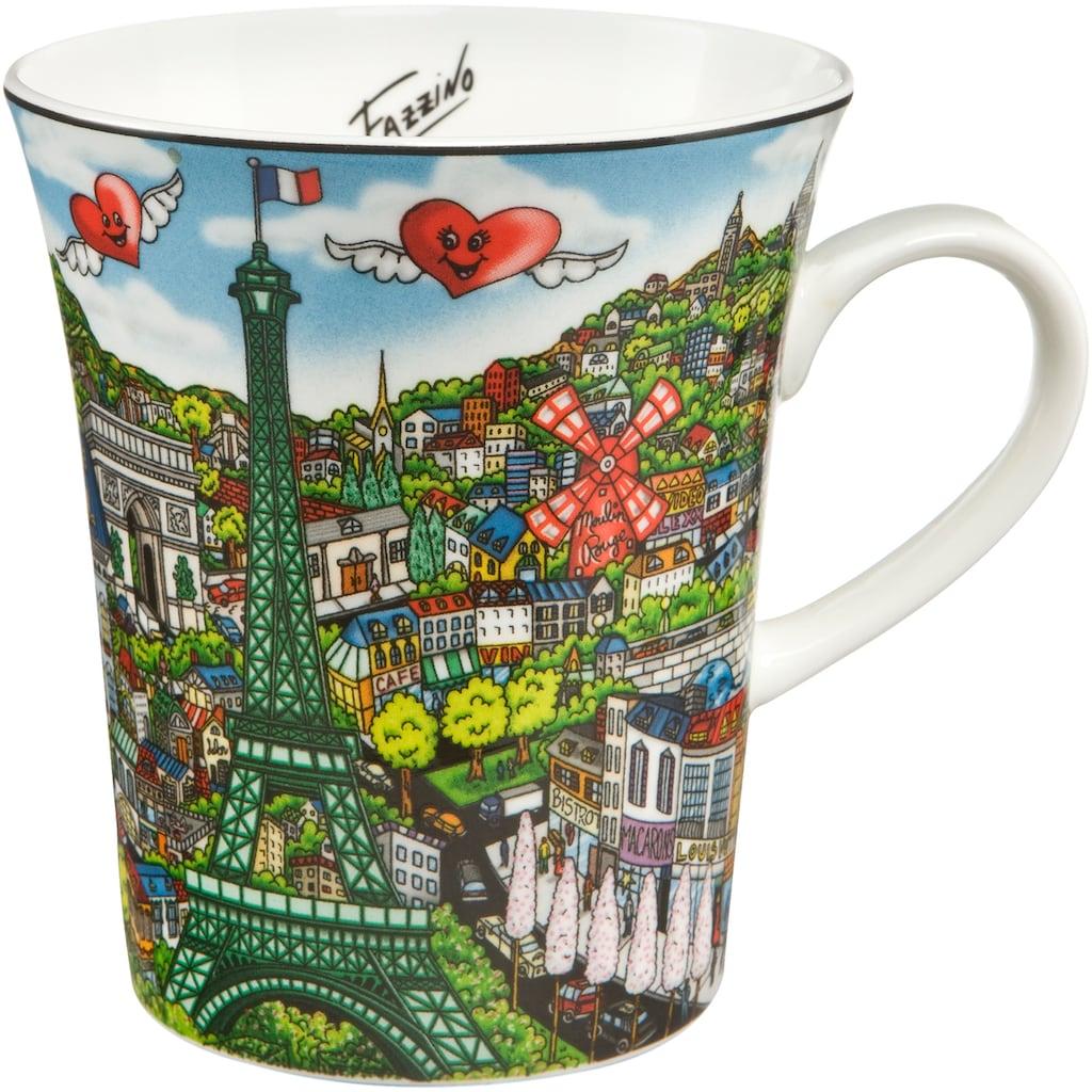 Goebel Becher »Come Visit Me in Paris«, von Charles Fazzino