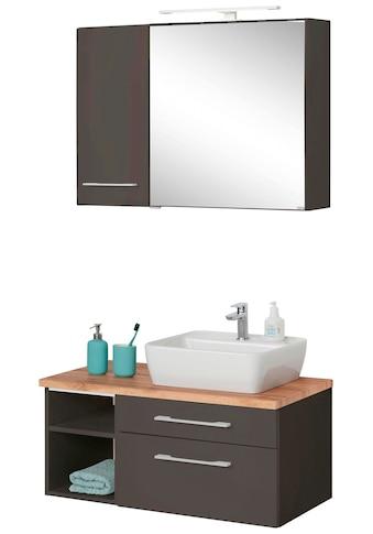 HELD MÖBEL Badmöbel-Set »Davos«, (3 St.), Spiegelschrank mit extra Regal kaufen