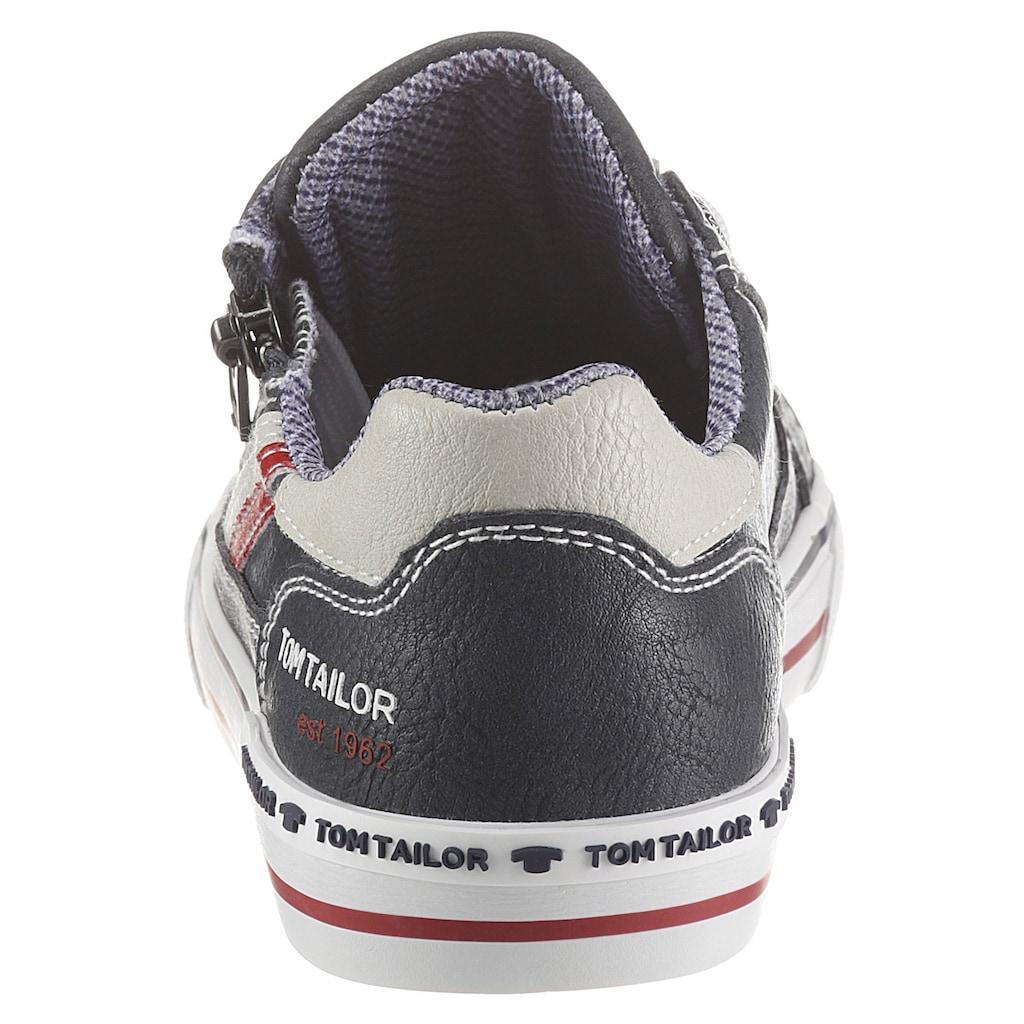 TOM TAILOR Sneaker, mit Reißverschluss an der Außenseite