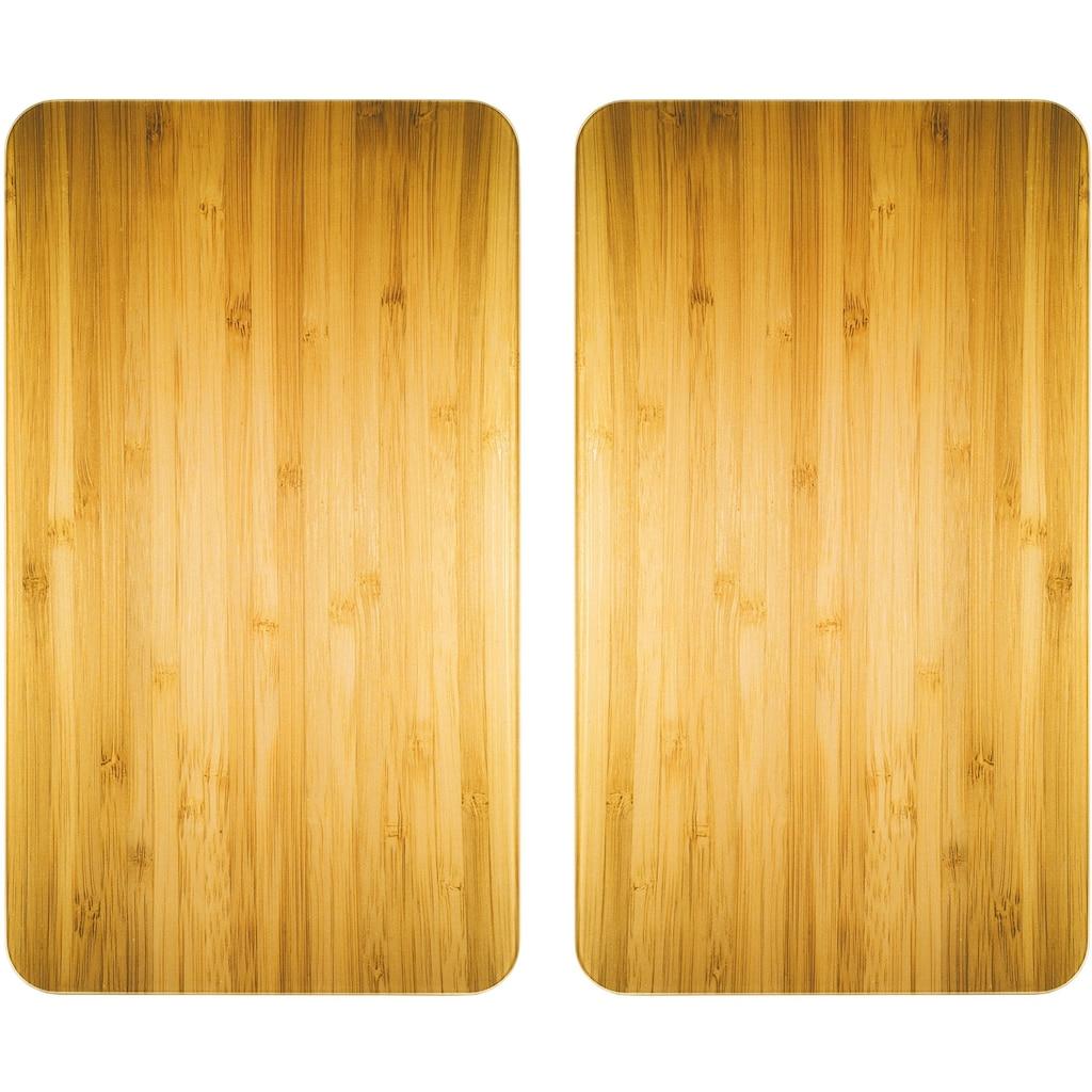 WENKO Herd-Abdeckplatte »Universal Holz-Optik«, (Set, 2 tlg.)