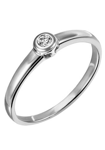 Firetti Diamantring »Verlobung, klassisch, Glanzoptik, rhodiniert, massiv«, mit Brillant kaufen
