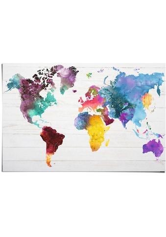 Reinders! Poster »Weltkarte in Wasserfarben«, (1 St.) kaufen