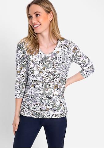 Olsen V-Shirt, mit floralem Allover-Druck kaufen