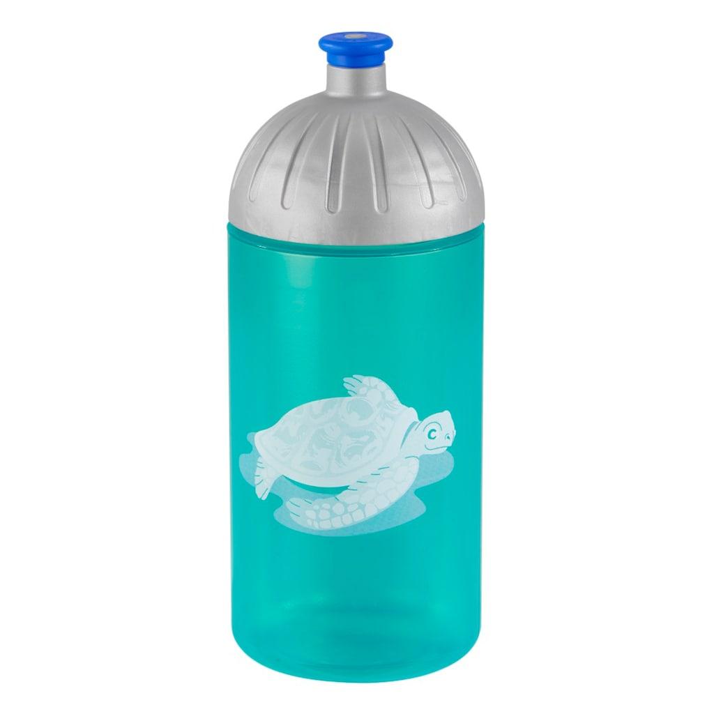 Step by Step Trinkflasche »Kindergarten Schule Freizeit«, Happy Turtle, Türkis