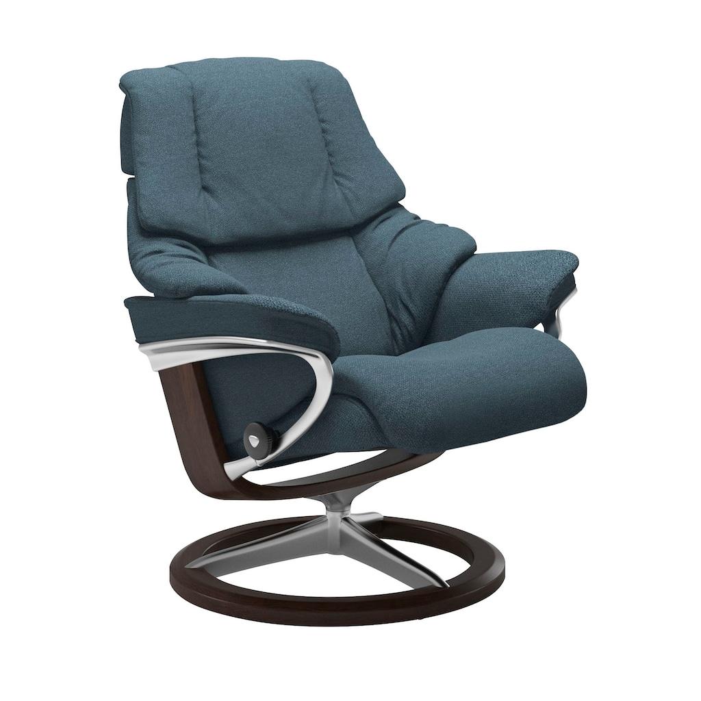 Stressless® Relaxsessel »Reno«, mit Hocker, mit Signature Base, Größe S, M & L, Gestell Braun