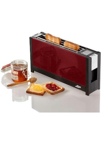 Ritter Toaster »volcano 5 rot«, 1 langer Schlitz, für 2 Scheiben, 950 W kaufen