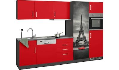 HELD MÖBEL Küchenzeile »Paris«, mit E-Geräten, Breite 290 cm, wahlweise mit... kaufen