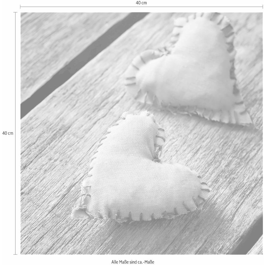 Home affaire Leinwandbild »Hearts Pink«, 40/40 cm