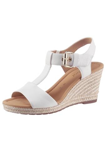 Gabor Sandalette »MILANO«, mit Absatz in Korkoptik kaufen