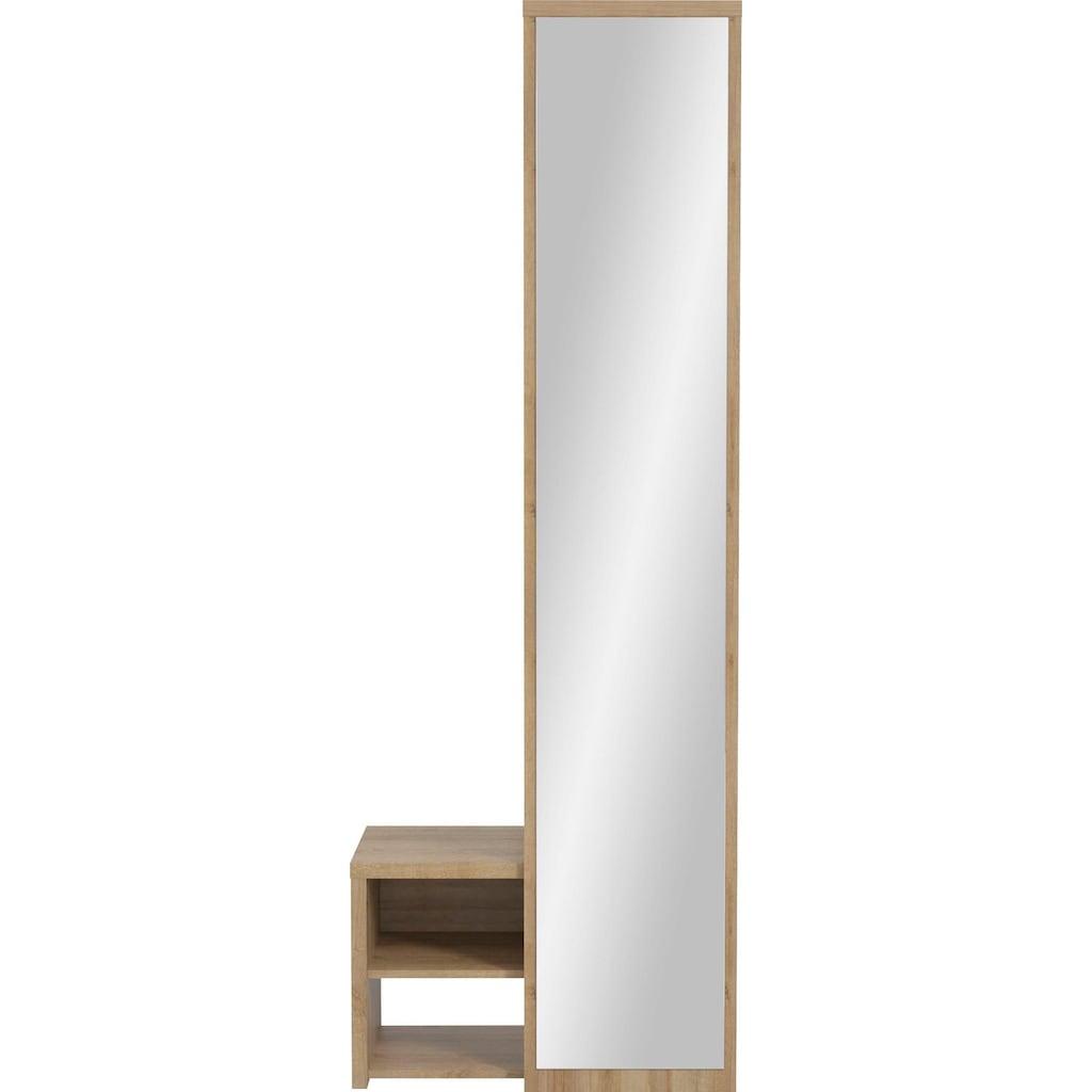Maja Möbel Garderobe »CHECK 2537«, Front mit Spiegel, wechselseitig montierbar