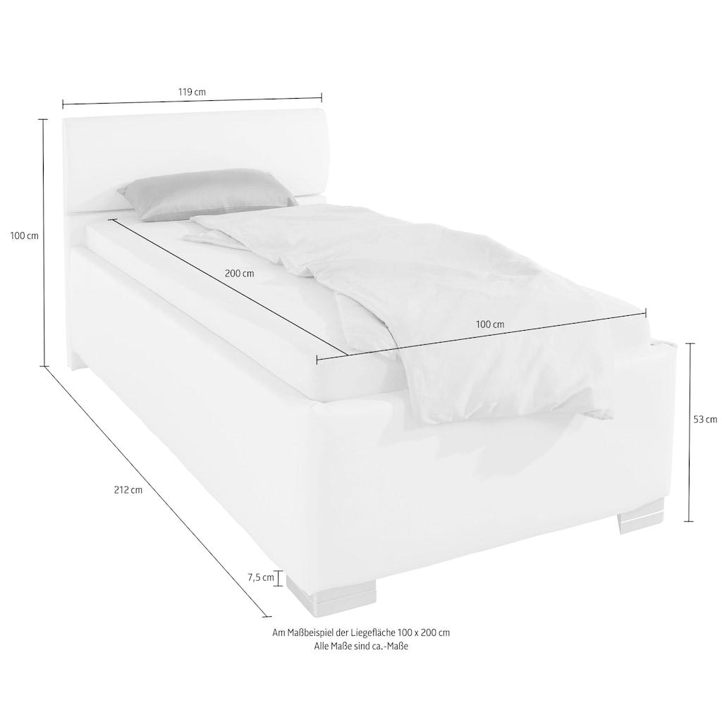 Breckle Polsterbett, mit Bettkasten und Kopfteilverstellung