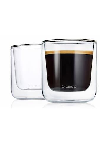 BLOMUS Thermoglas »NERO«, (Set, 2 tlg.), Doppelwandig, Inhalt 200 ml, 2-teilig kaufen