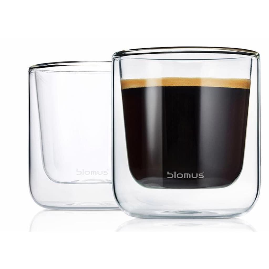 BLOMUS Thermoglas »NERO«, (Set, 2 tlg.), Doppelwandig, Inhalt 200 ml, 2-teilig