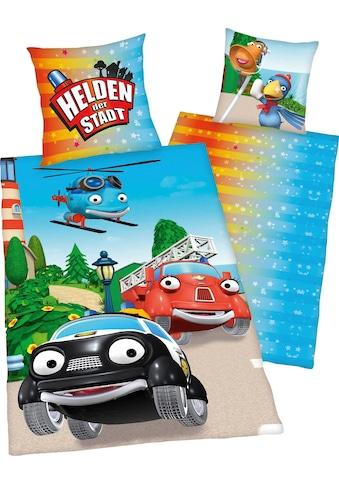Kinderbettwäsche »Helden der Stadt«, mit coolem Motiv kaufen