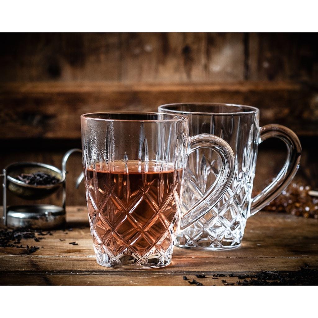 Nachtmann Teeglas »Noblesse«, (Set, 2 tlg., Produkt ist auf Hitzebeständigkeit geprüft-1.000 Temperaturwechsel zwischen--10 Grad und + 95 Grad), mit Schliff, 347 ml, 2-teilig