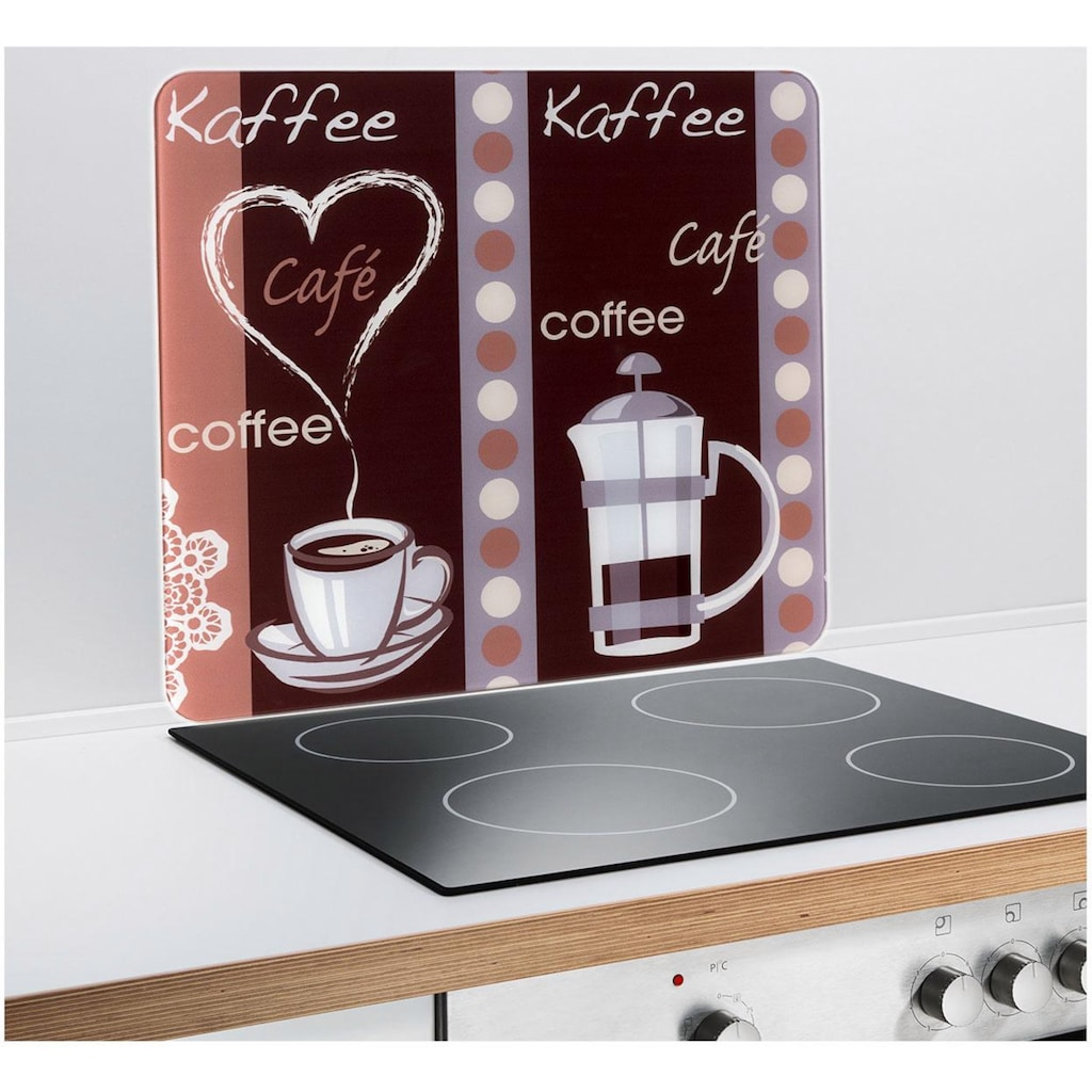WENKO Schneide- und Abdeckplatte »Kaffeeduft«, (1 tlg.), mobile Arbeitsfläche nutzbar