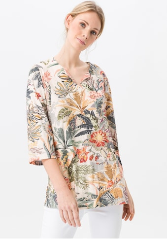 Green Cotton 3/4-Arm-Shirt »Splitneck-Shirt«, Dekorative Naht kaufen