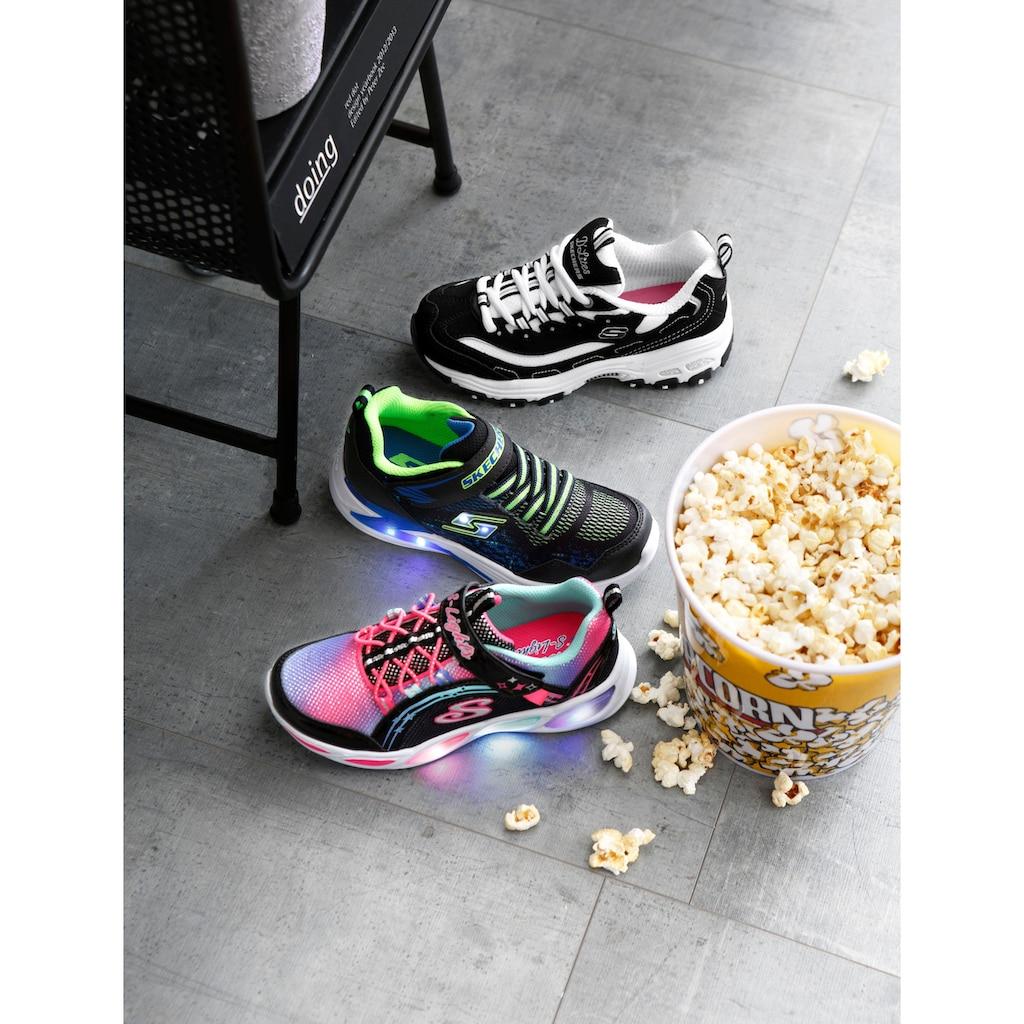 Skechers Kids Sneaker »Blinkschuh Erupters III«, mit Klettverschluss und Gummiband