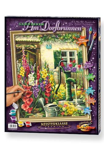 Schipper Malen nach Zahlen »Meisterklasse Premium - Am Dorfbrunnen«, Made in Germany kaufen