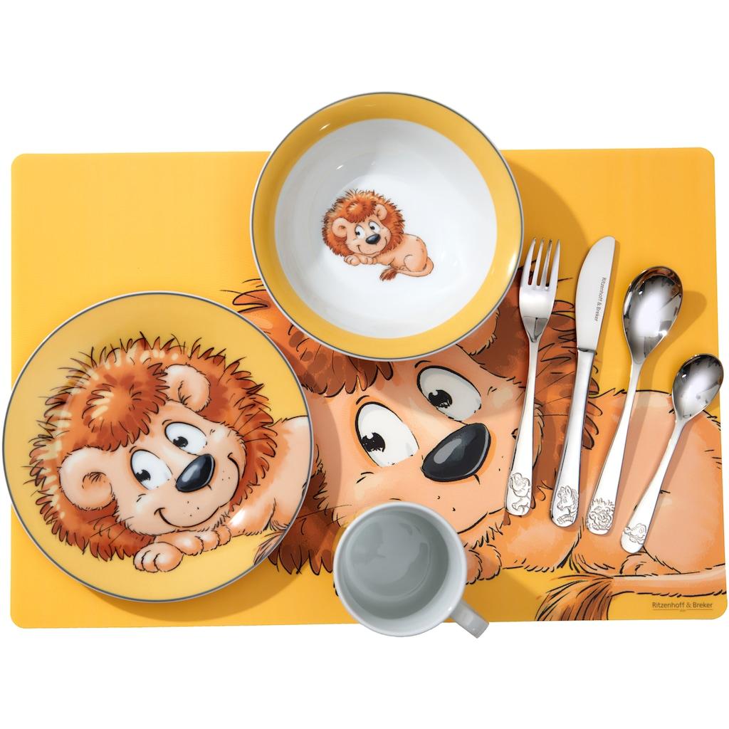 Ritzenhoff & Breker Kindergeschirr-Set »Happy Zoo, Leo,«, (Set, 3 tlg.), mit Löwen-Dekor