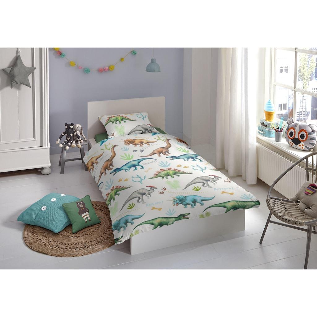 good morning Kinderbettwäsche »Dino«, mit Dinos