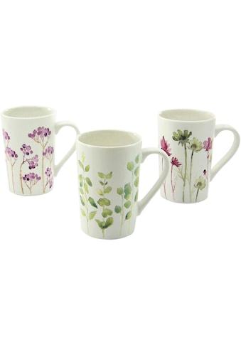 CreaTable Becher »Botanica«, (Set, 6 tlg.), Blumenmotive, 6-teilig kaufen