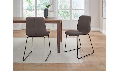 PBJ Stuhl »Sledge Cut«, (2er-Set) mit Kufengestell aus schwarzem Metall kaufen