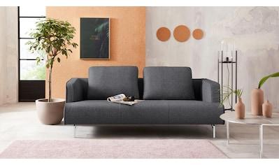 hülsta sofa 3,5-Sitzer »hs.440«, wahlweise in Stoff oder Leder, Spangenfüße glanzchrom kaufen