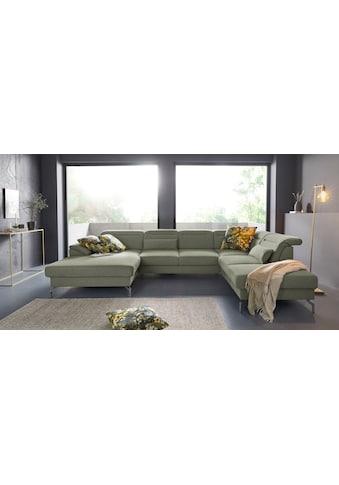 sit&more Wohnlandschaft, 15 cm Fußhöhe, inklusive Sitztiefenverstellung, wahlweise... kaufen