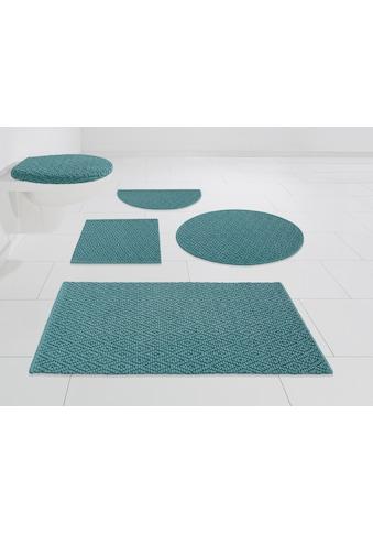 Home affaire Badematte »Numan«, Höhe 10 mm, schnell trocknend-strapazierfähig, rutschhemmender Rücken kaufen