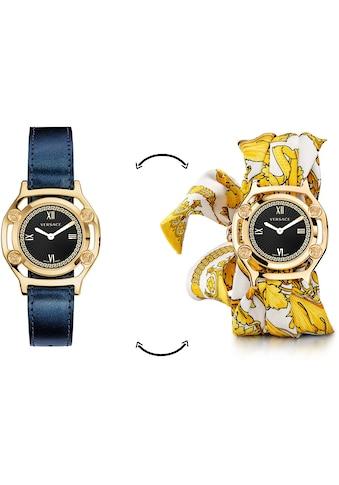 Versace Schweizer Uhr »Medusa Frame, VEVF00720«, (Set, 2 tlg., Uhr mit Lederband und... kaufen
